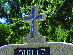 Memorial Cross with Rosary